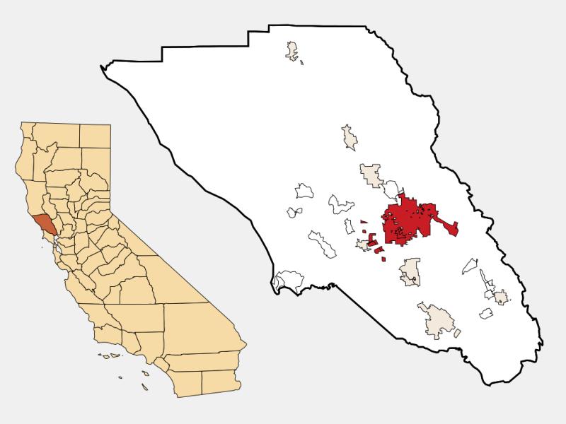 Santa Rosa, CA locator map