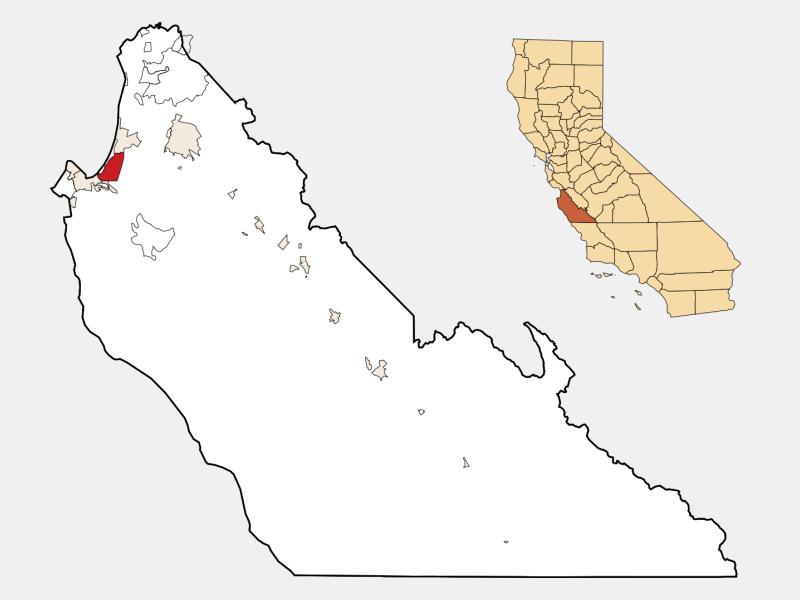 Seaside locator map
