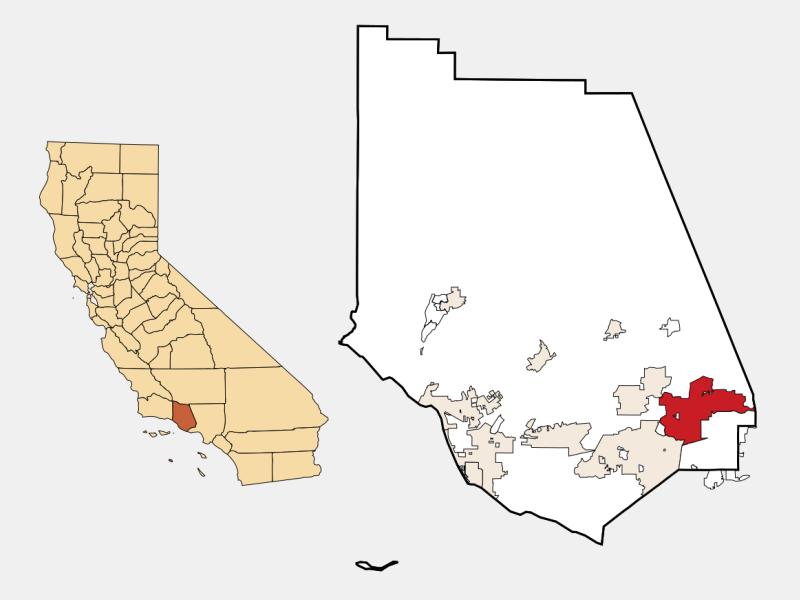 Simi Valley locator map