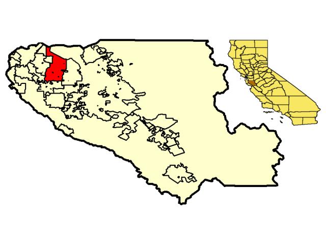 Sunnyvale locator map