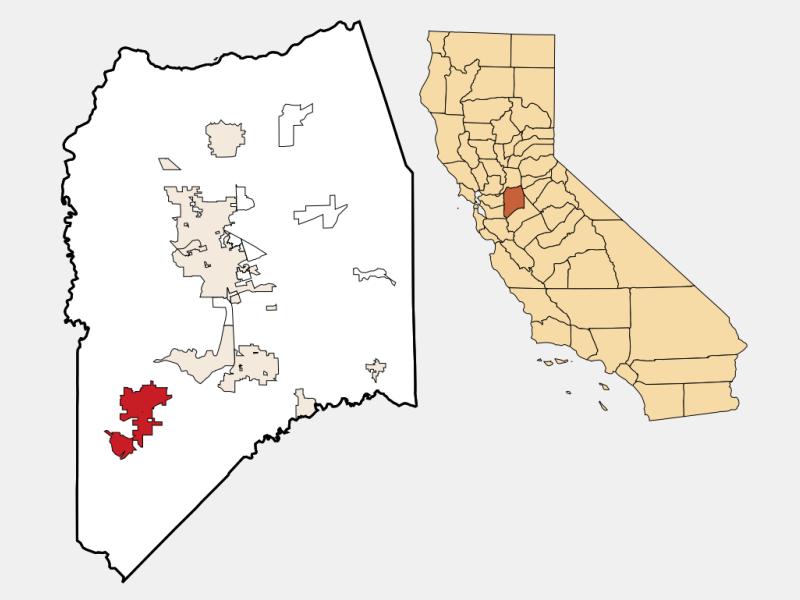 Tracy locator map