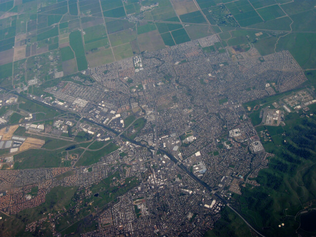 Aerial view of Vacaville  California image