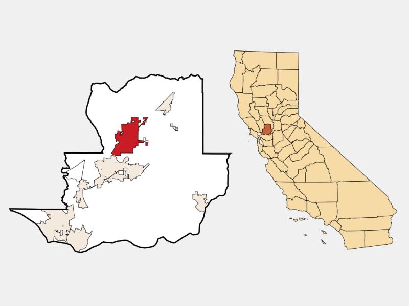 Vacaville, CA locator map