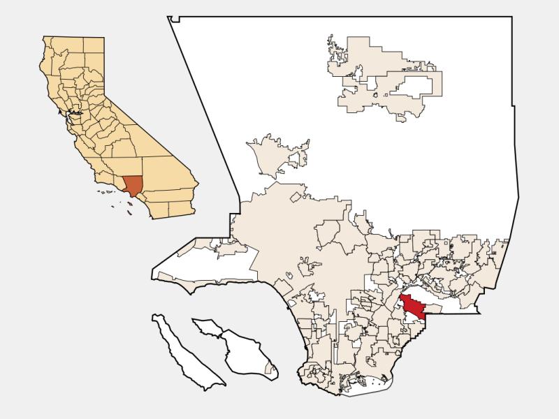 Whittier, CA locator map