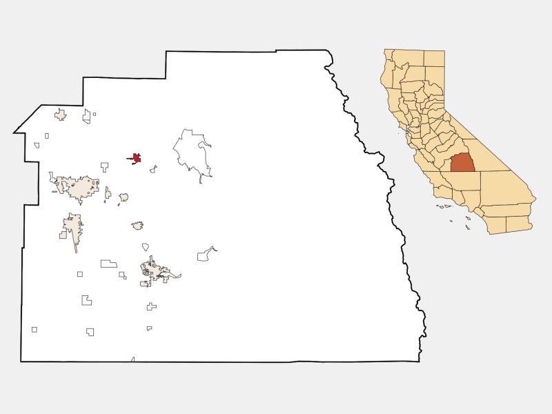Woodlake locator map