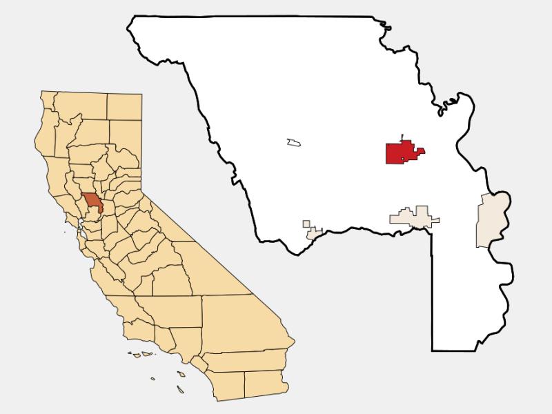 Woodland locator map