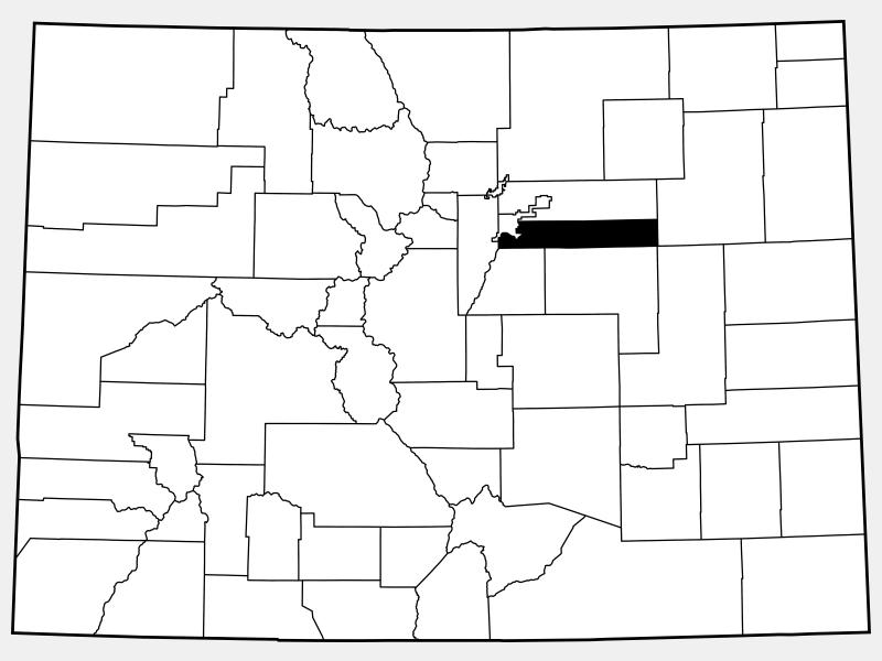 Arapahoe County locator map