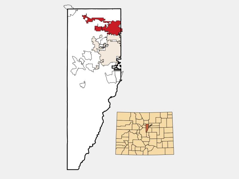 Arvada locator map