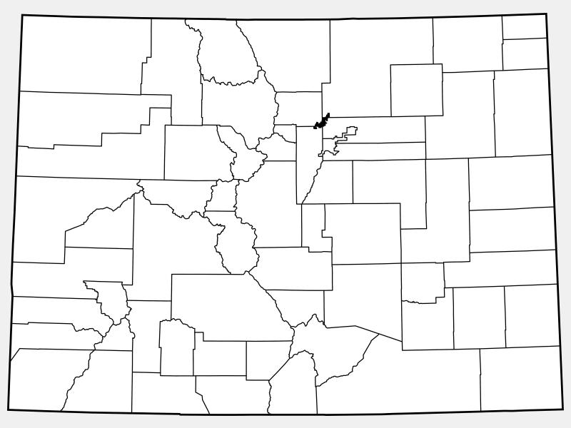 Broomfield County locator map
