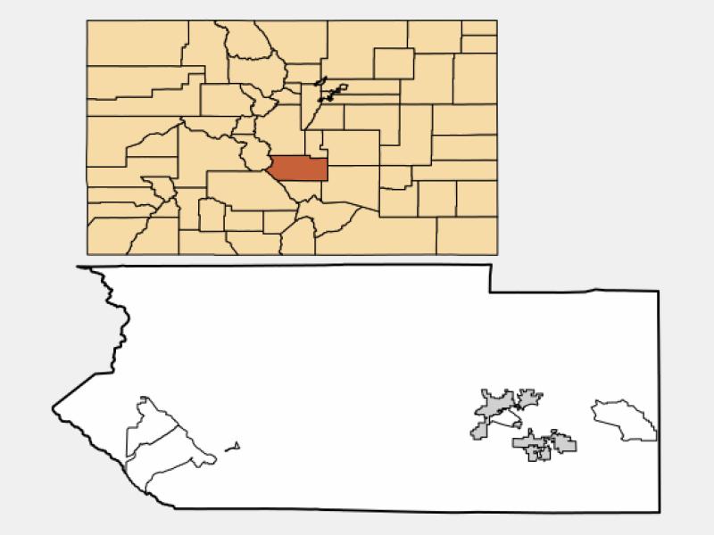 Cañon City locator map