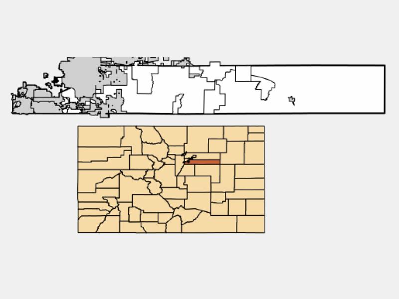 Centennial locator map