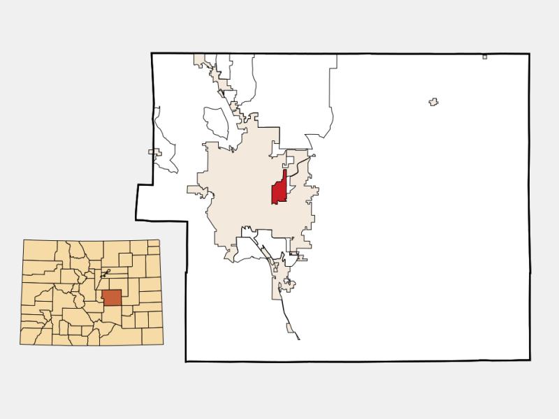 Cimarron Hills locator map