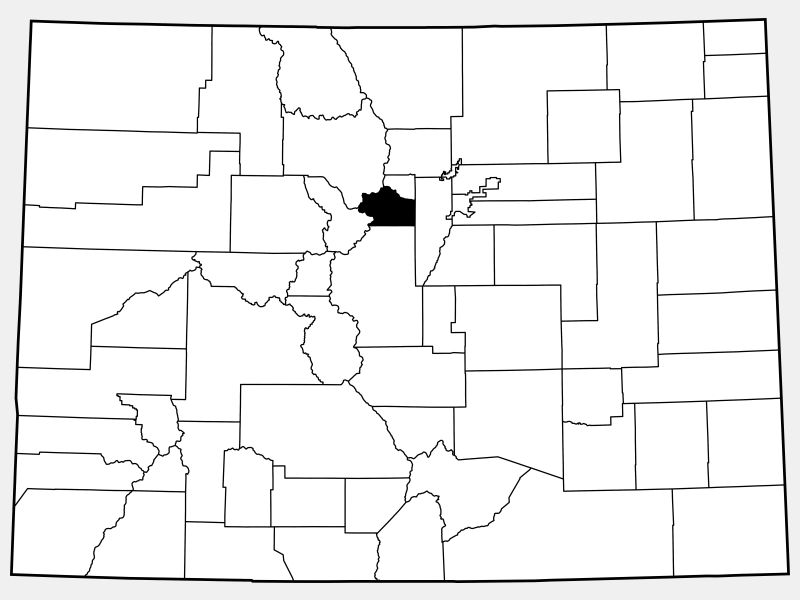 Clear Creek County locator map
