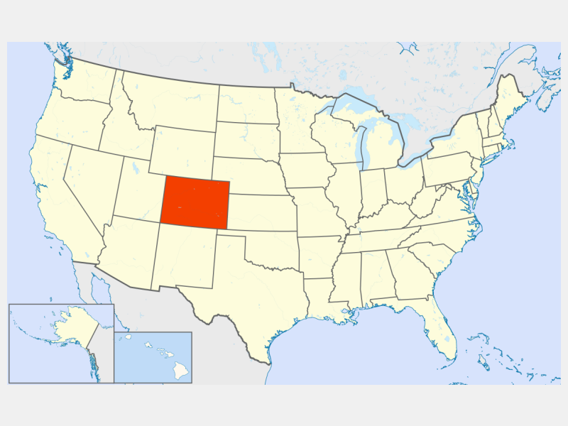 Colorado locator map