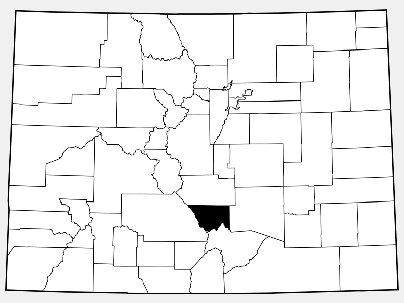 Custer County location map