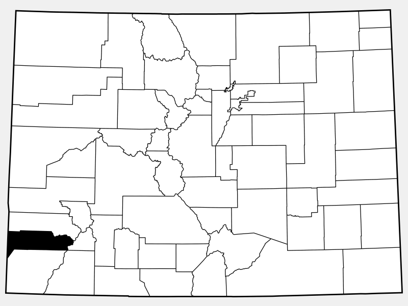 Dolores County location map