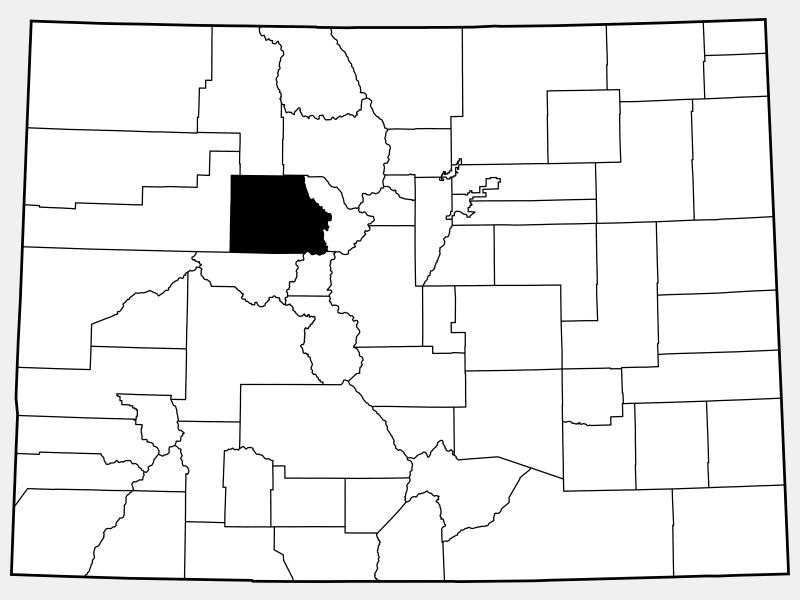 Eagle County locator map