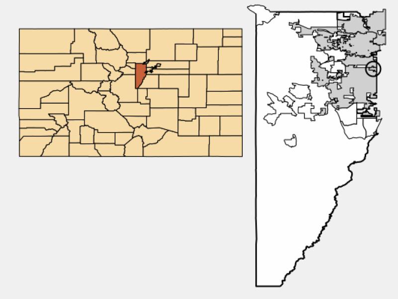 Edgewater locator map
