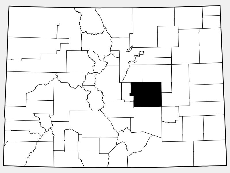 El Paso County locator map