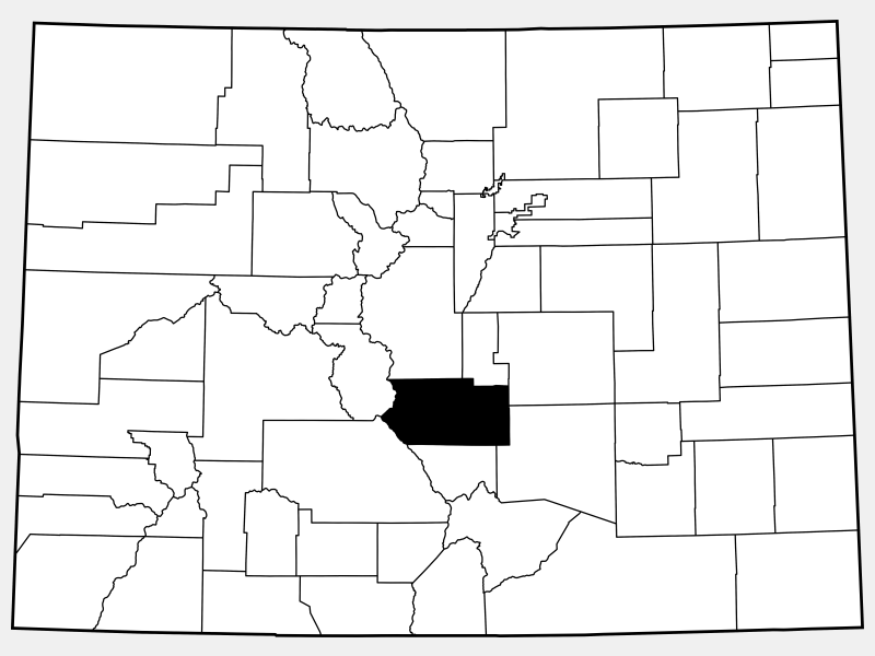 Fremont County locator map
