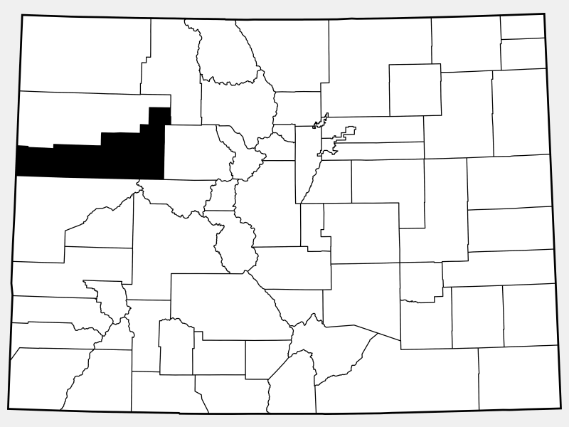 Garfield County locator map