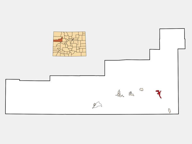 Glenwood Springs locator map