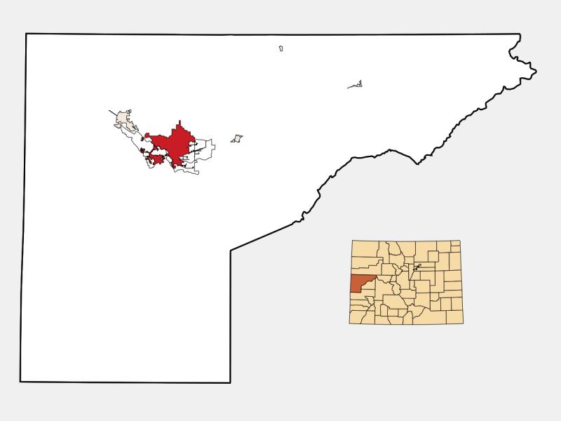 Grand Junction locator map