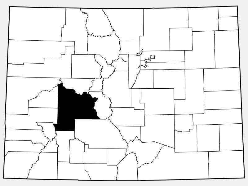 Gunnison County locator map
