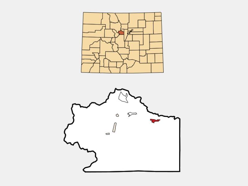 Idaho Springs locator map