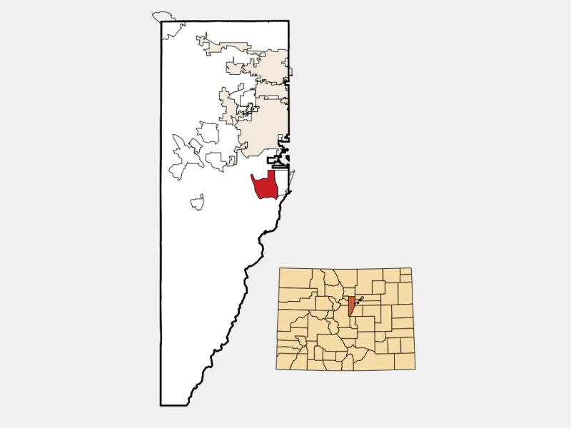 Ken Caryl locator map