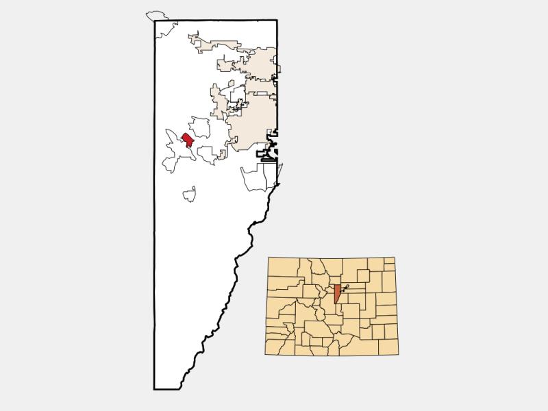 Kittredge locator map