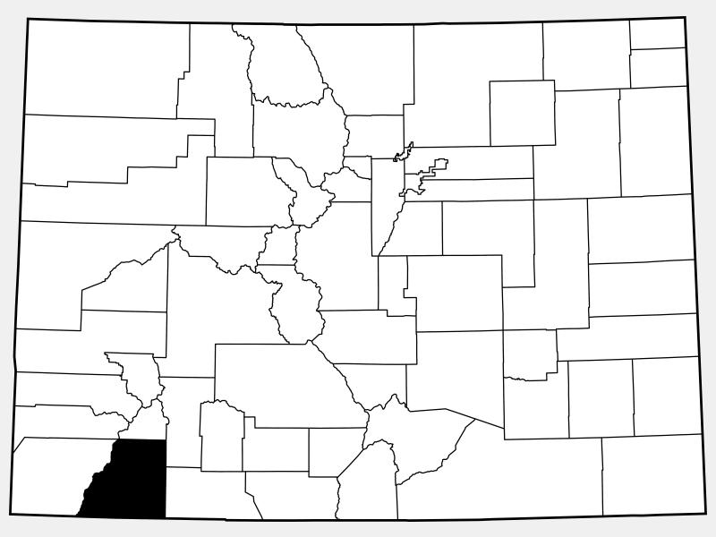 La Plata County locator map