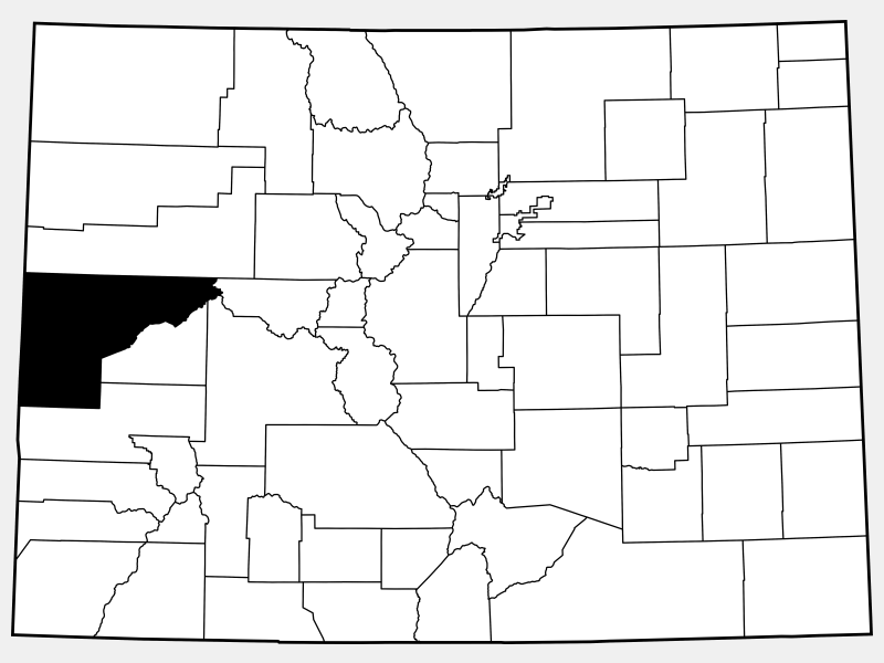 Mesa County locator map