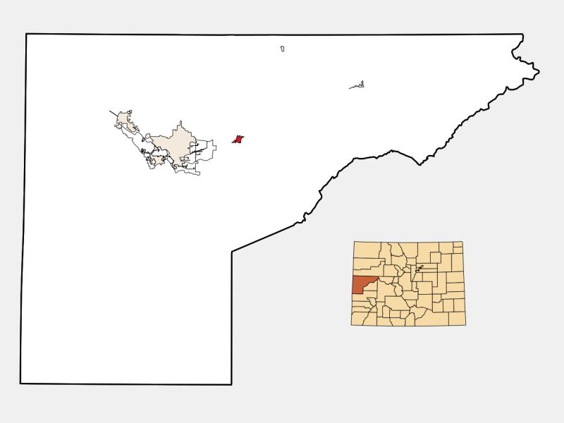 Palisade location map