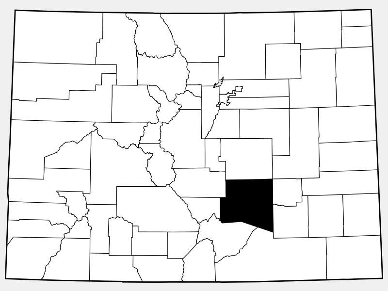 Pueblo County locator map