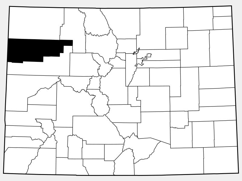 Rio Blanco County locator map