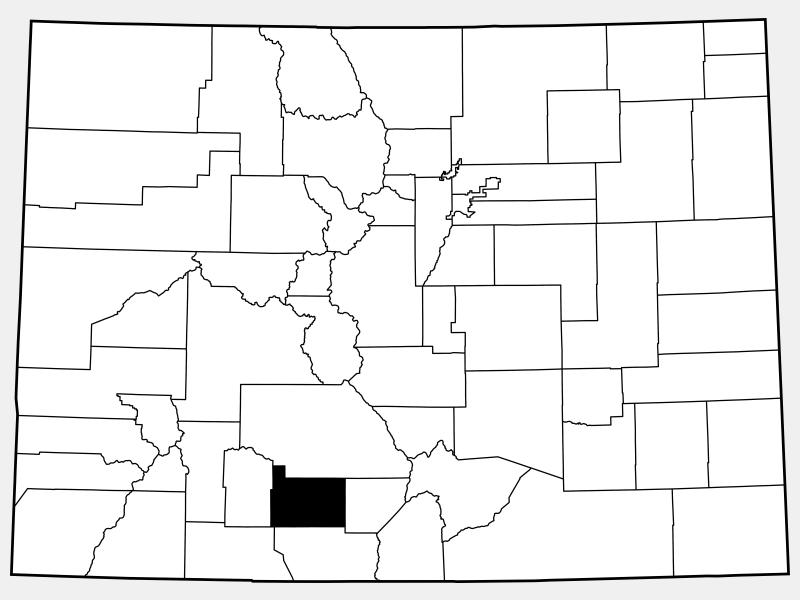 Rio Grande County location map