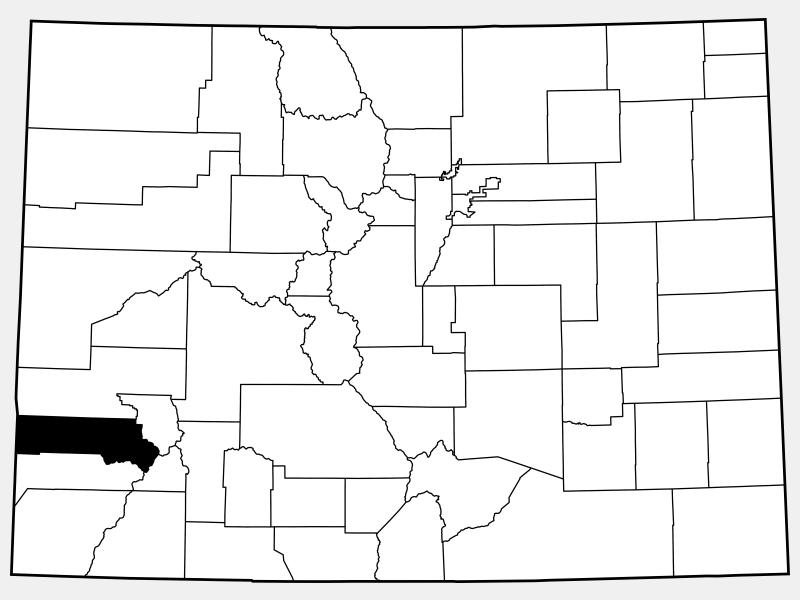 San Miguel County locator map