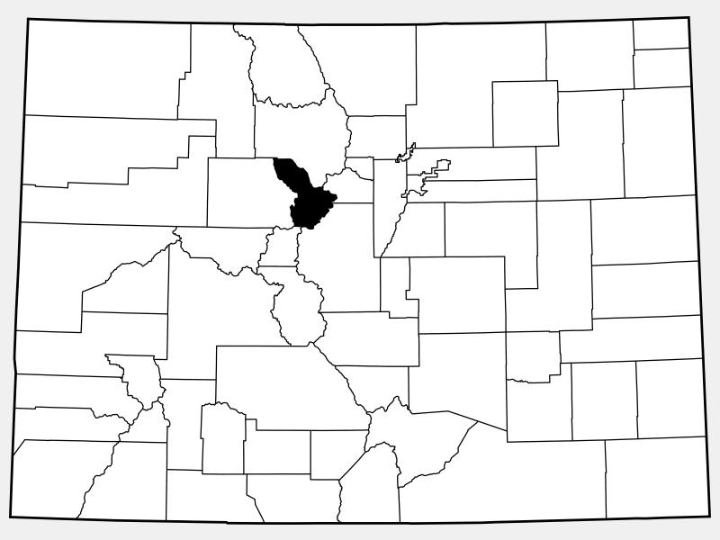 Summit County locator map