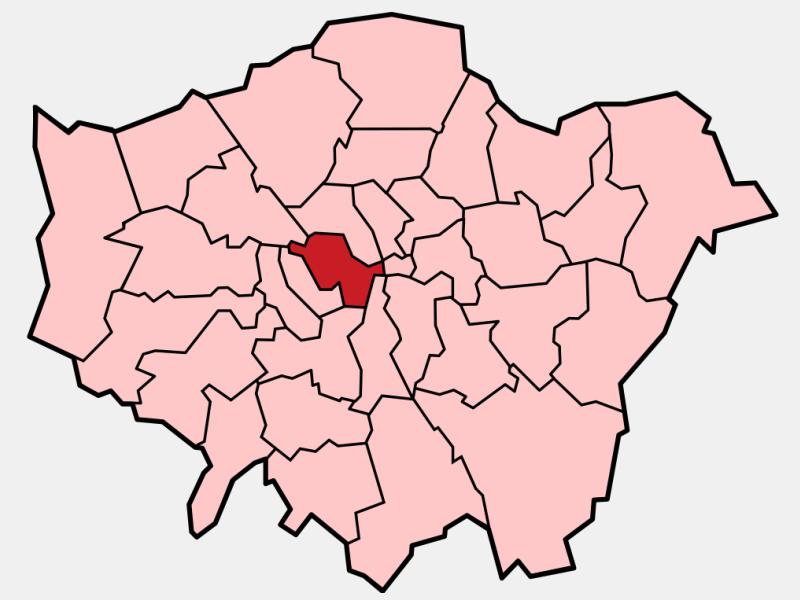 Westminster locator map