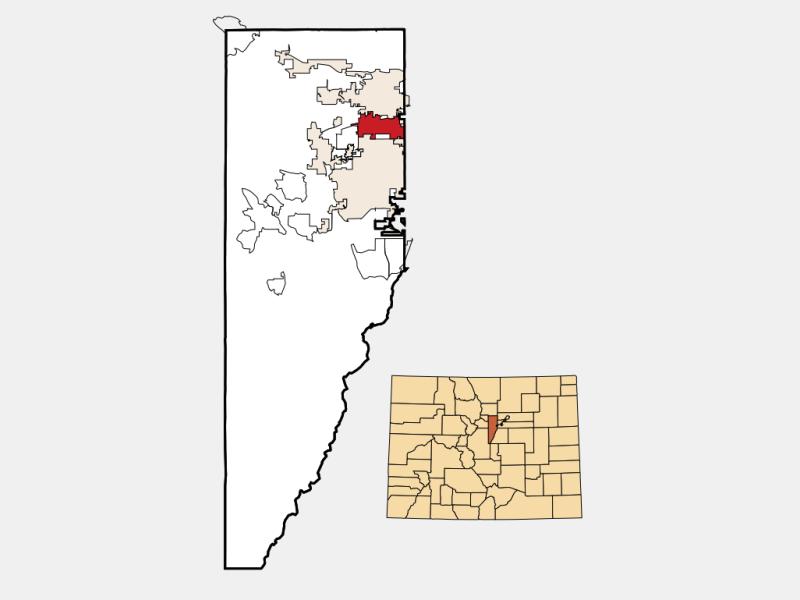Wheat Ridge locator map