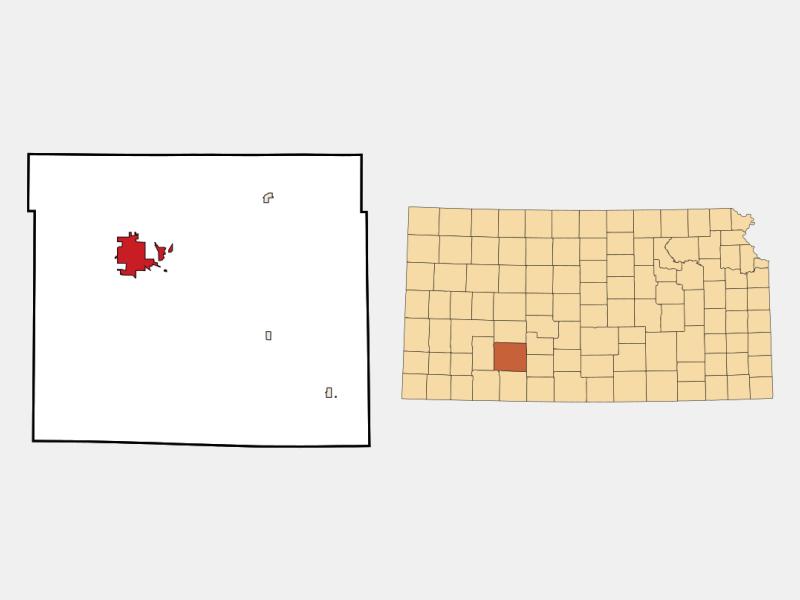 Dodge City locator map
