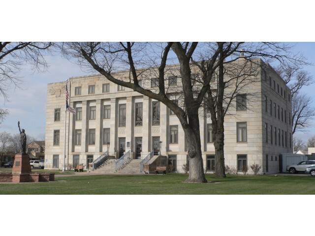 Finney County  Kansas courthouse from NE 1 image