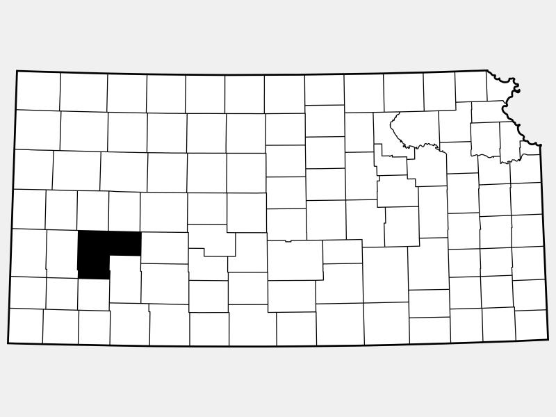 Finney County locator map