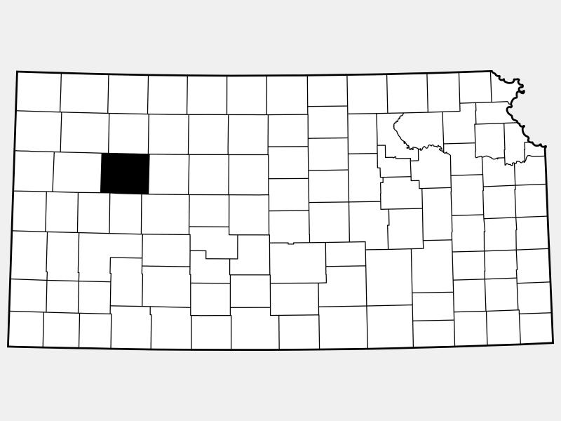 Gove County locator map