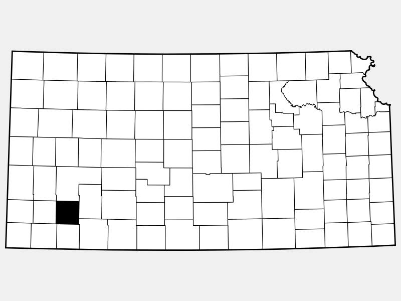 Haskell County locator map