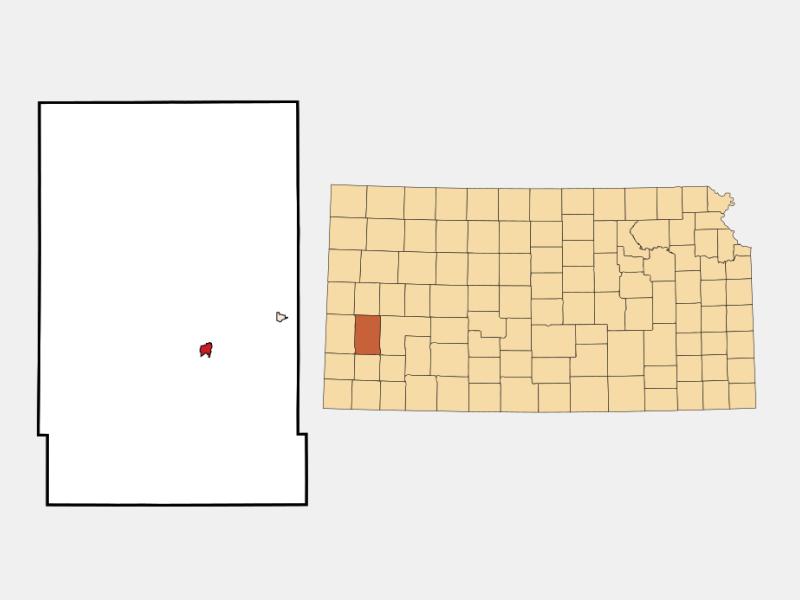 Lakin location map