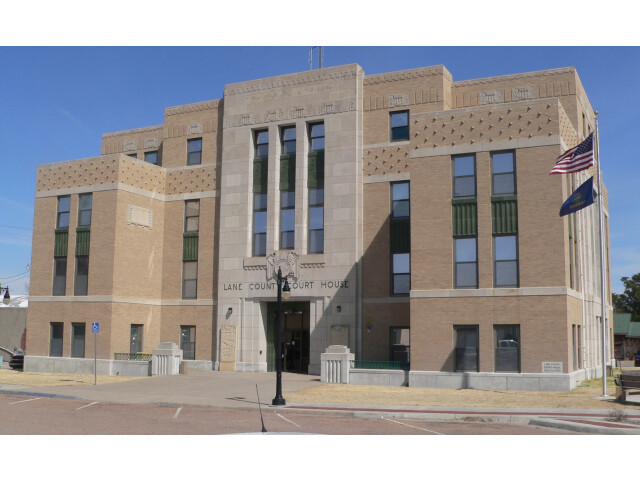 Lane County  Kansas courthouse from SW 1 image
