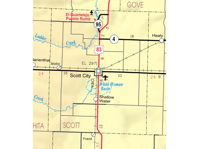 Map of Scott Co  Ks  USA image
