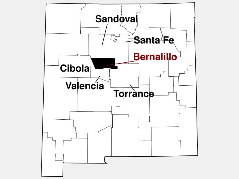 Bernalillo County locator map